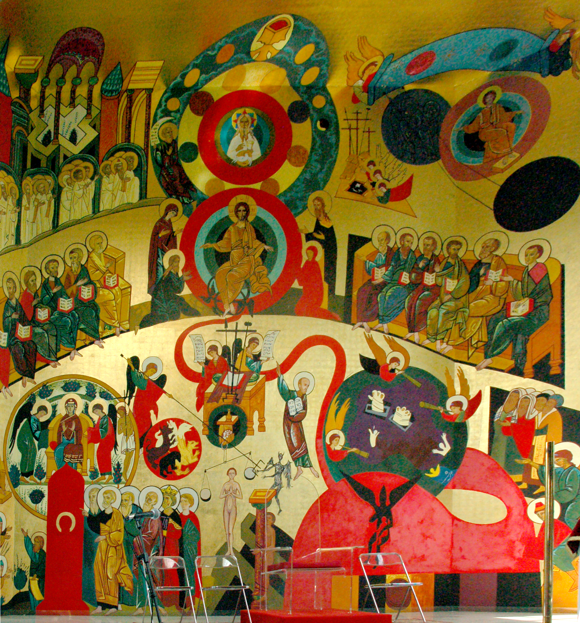 Ikona Sądu Ostatecznego namalowana przez Kiko Arguello, fot. Kamil Szumotalski