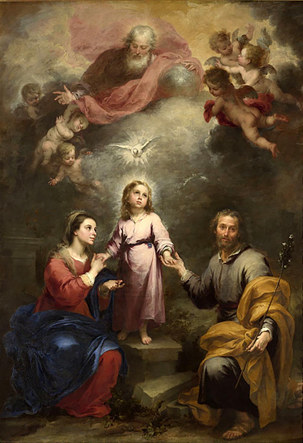 Święta rodzina z Duchem Świętym, Murillo, 1675-1682
