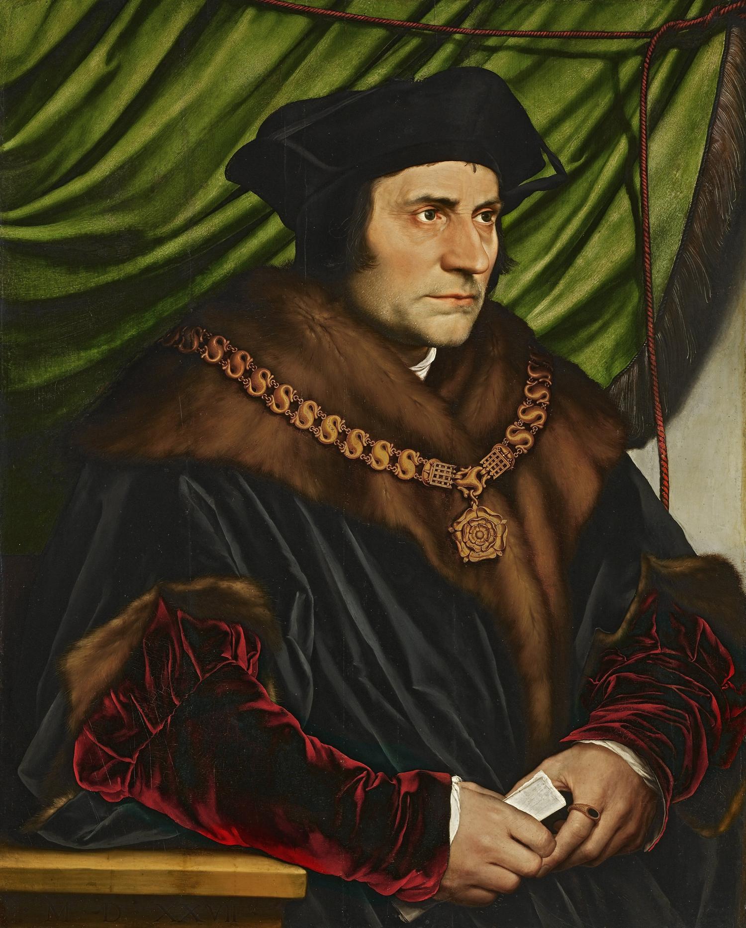 Portret Tomasza Morusa, Hans Holbein młodszy