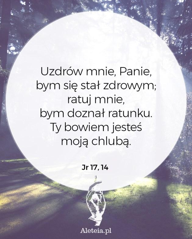 Cytat z Biblii Jr 17,14
