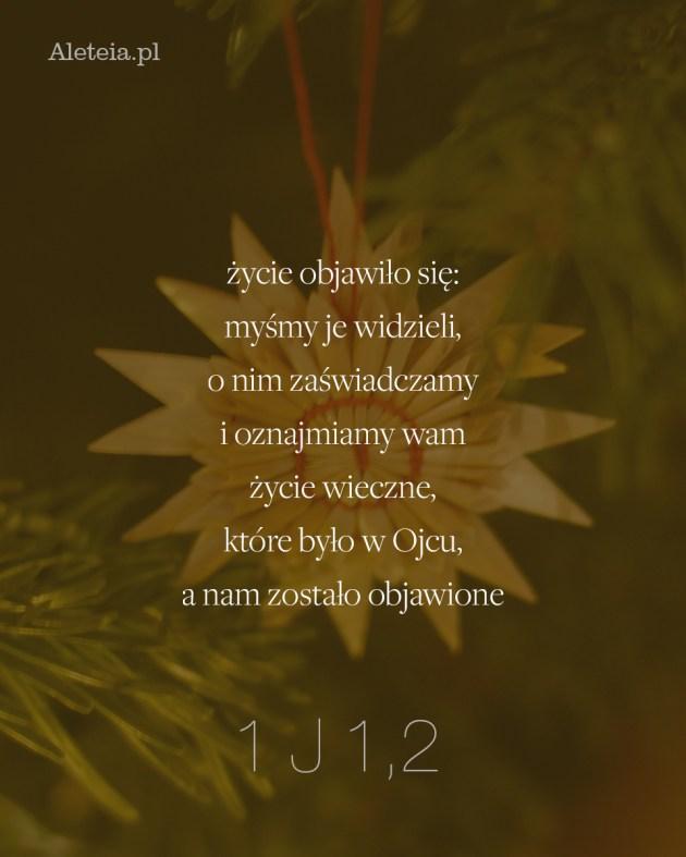 Cytat z Biblii 1 J 1,2