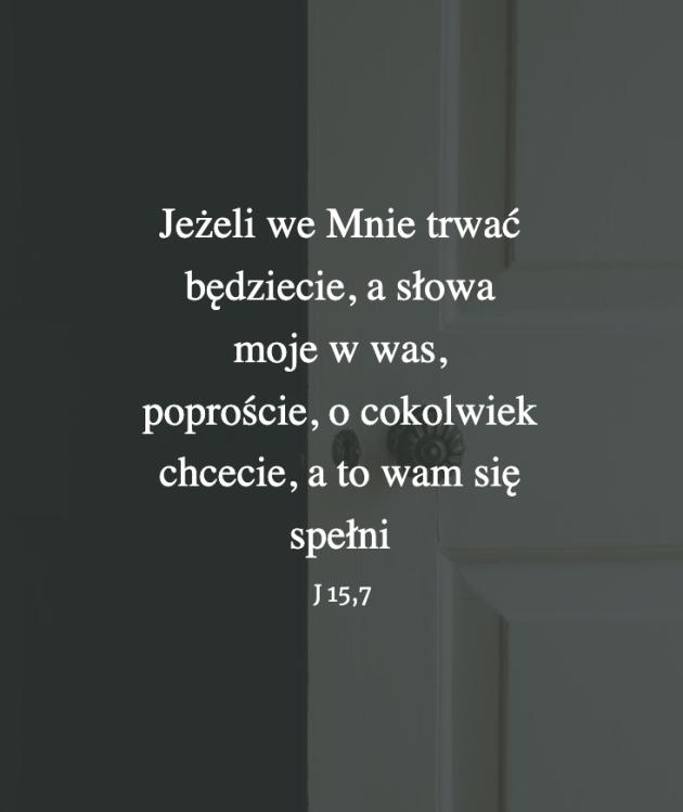 Cytat z Biblii [J15,7]