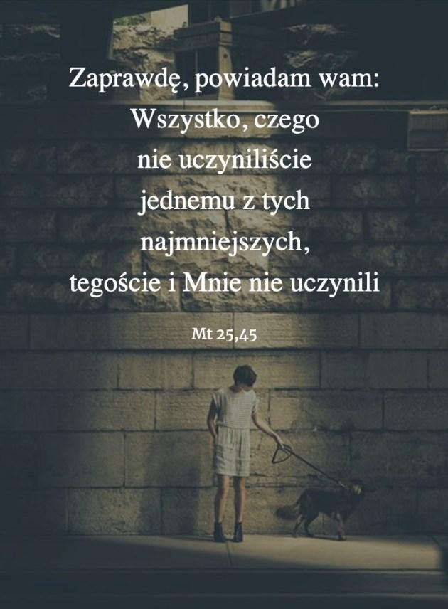 Cytat z Biblii [Mt 25,45]