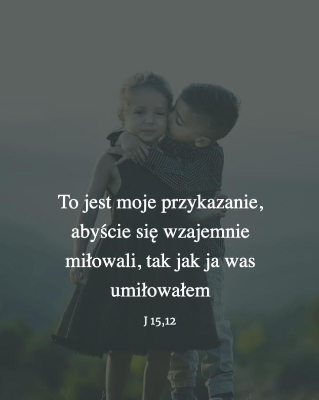 Cytat z Biblii [J15,12]