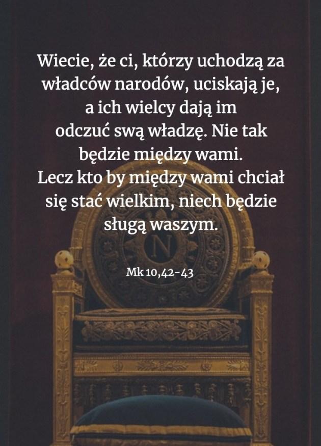 Cytat z Biblii [Mk 10, 42-43]