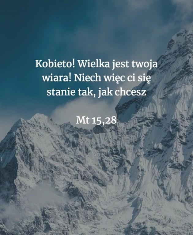 Cytat z Biblii [Mt 15, 28]