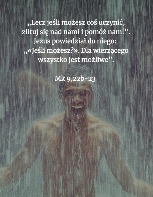 Cytat z Biblii [Mk 9, 22b - 23]