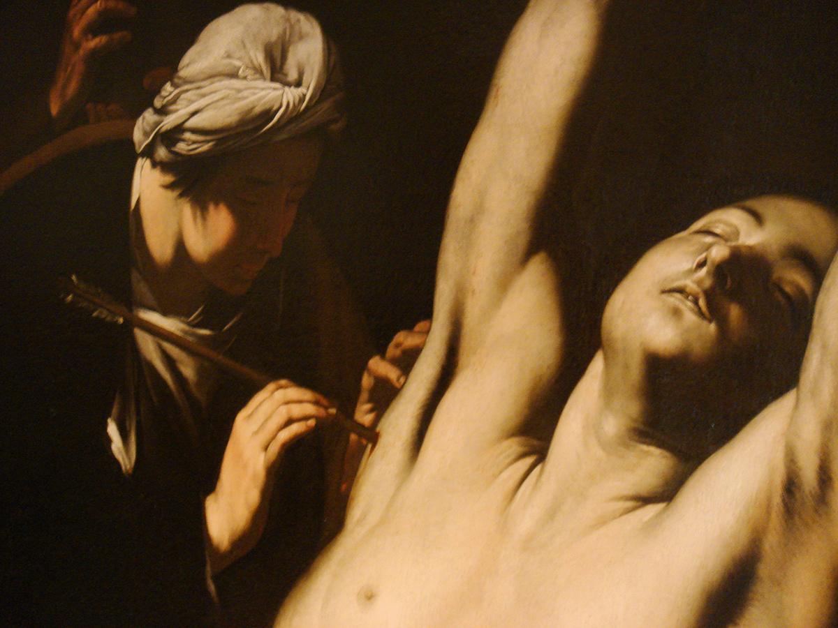 Saint Sebastian cured by women, Spagnoletto