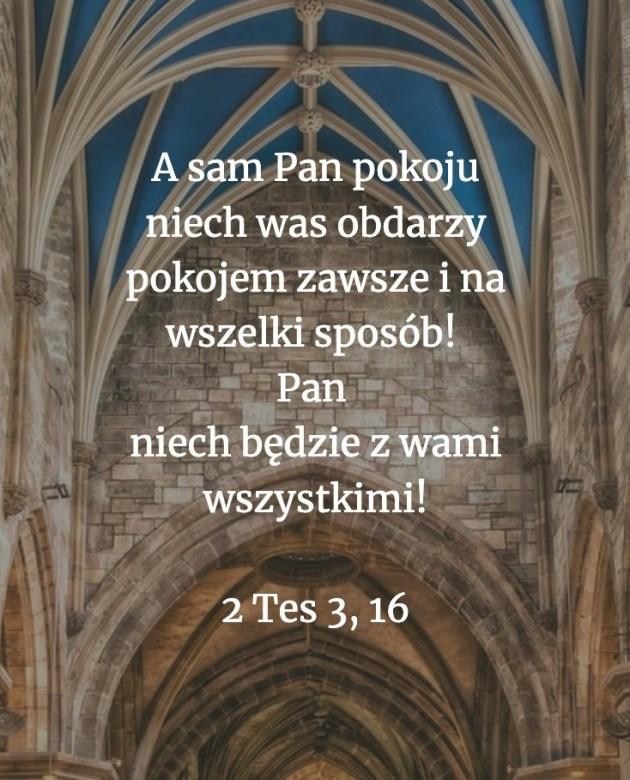 Cytat z Biblii [2 Tes 3, 16]